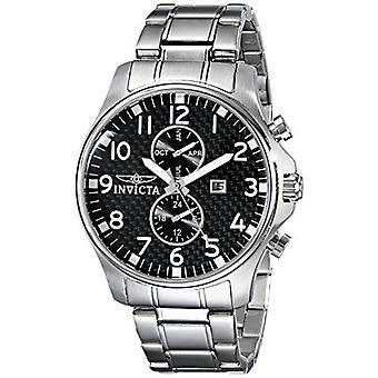 Relógio cronógrafo de aço inoxidável Invicta 0379