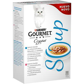 Gourmet Crystal Soup Multipack: Atún y Anchoas (Cats , Cat Food , Wet Food)