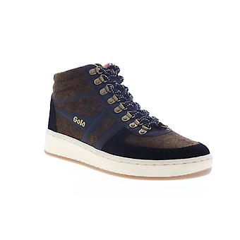 Gola Ascent High Mens Brown Suede Mid Top Lifestyle Sneakers Schoenen