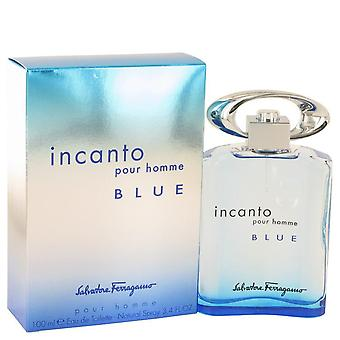 Incanto Blue Eau De Toilette Spray By Salvatore Ferragamo 3.4 oz Eau De Toilette Spray