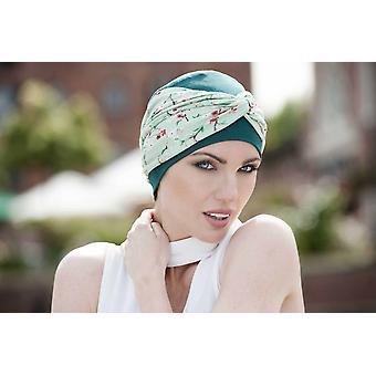 Chapéus de quimioterapia para mulheres - Ella Green Forest Flower