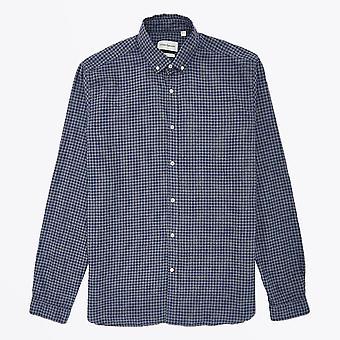 Oliver Spencer  - Clerkenwell Check Tab Shirt - Blue