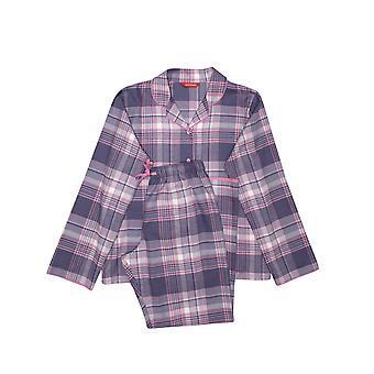 Minijammies Serena 5651 Girl's Lilac Mix Check Pyjama Set