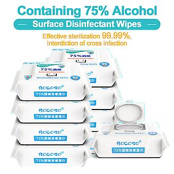 "Safe Medical Grade 75% Alcohol Wet Wipes 80 Wipes Per Pack (8""x 6"")"