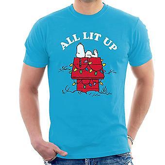 Arachidi Natale tutto Lit Up Snoopy Uomini' T-Shirt