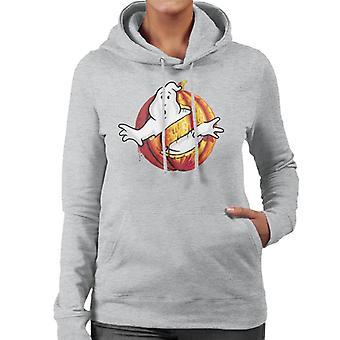 Ghostbusters Pumpkin No Ghost Logo Women's Hooded Sweatshirt
