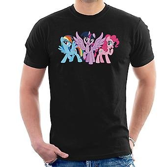 My Little Pony Personajes Principales Giggling Men's Camiseta