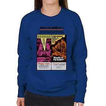 Hammer Horror films Twins Ripper dubbele Evil shock hits vrouwen ' s Sweatshirt