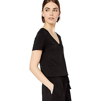 Brand - Daily Ritual Women's Supersoft Terry Short-Sleeve V-Neck Rompe...