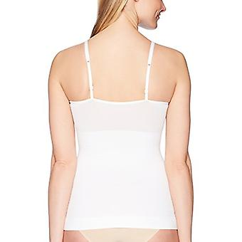 Marque - Arabella Women's Matte and Sheer Seamless Shapewear Cami, Whit...