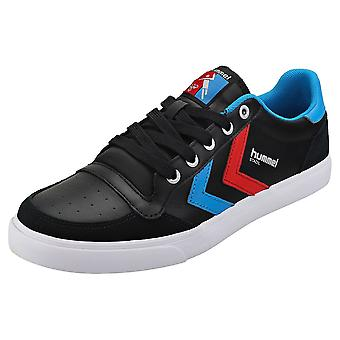 hummel Stadil Low Mens Casual Trainers in Black Blue Red