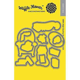 Waffle Flower Die - Hello Stampurr