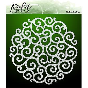 Picket Fence Studios Flourish Circle Stencil