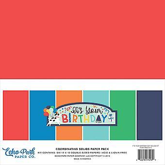 Echo Park It&s Your Birthday Boy 12x12 Calowy pakiet papieru do koordynowania ciał stałych