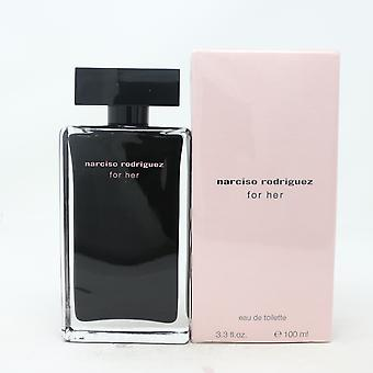 Narciso Rodriguez For Her par Narciso Rodriguez Eau De Toilette 3.3oz Spray New With Box
