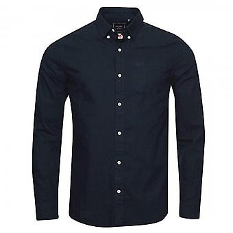 Superdry Classic University Oxford L/S Shirt Nordic Navy L6T