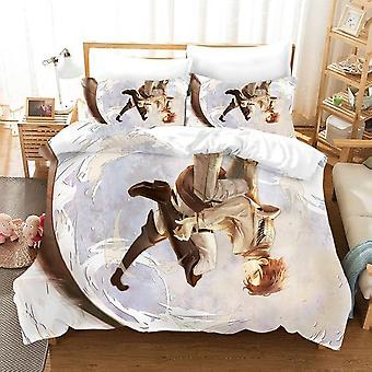 Attack On Titan 3d Printing Cartoon Quilt Cover And Pillowcase Bedding Sets