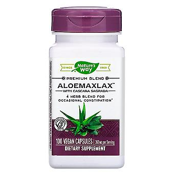 Nature-apos;s Way, AloeMaxLax avec Cascara Sagrada, 360 mg, 100 capsules végétaliennes