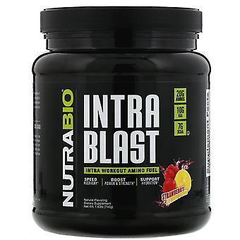 NutraBio Labs, Intra Blast, Intra Workout Amino Fuel, Strawberry Lemon Bomb, 1.6