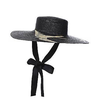 Ferruccio Vecchi Canotto Woven Straw Bird Detail Hat