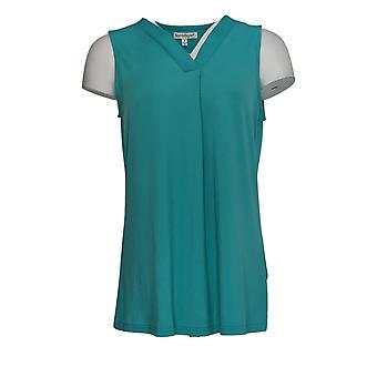 NorthStyle Women's Top V-Neck Sleeveless Turquoise Blue