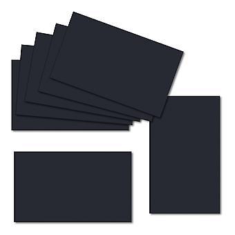 Dark Blue. 100mm x 120mm. Place Card. 235gsm Folded Card Blank.