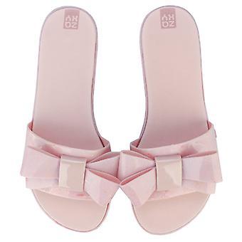 Women's Zaxy Sky Bow Slide Sandals in Cream