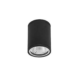 LED Udendørs overflademonteret overflademonteret væglys sort IP54