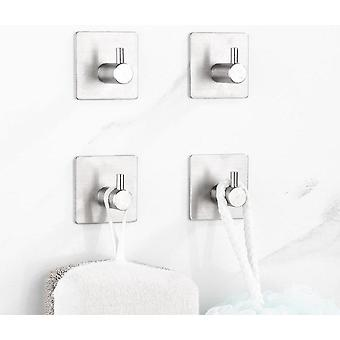 Stainless Steel Robe Hooks - Wall, Door, Kitchen, Bathroom, Rustproof Towel