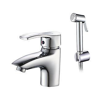Accoona Basin Faucet Chrome Polished Solid Brass Bathroom Single Handle Sink