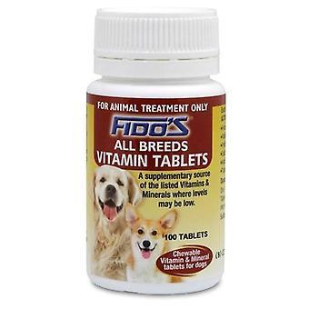 Fidos vitamiini tablettia - kaikki rodut 100: