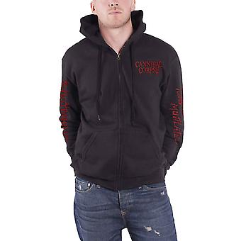 Cannibal Corpse Hoodie Tomb Of The Mutilated 2019 Official Mens Black Zipped