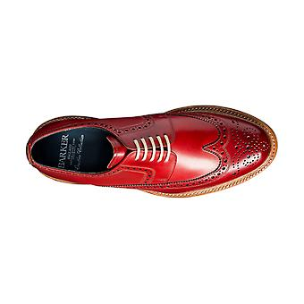 Barker Bailey - Red Calf | Mens Handmade Leather Derby Brogue | Barker Shoes