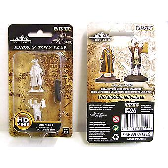 Wizkids Deep Cuts Unpainted Miniatures Mayor and Town Crier (Pack of 6)