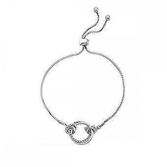 Hot diamanter Sterling sølv Unity Circle armbånd DL594