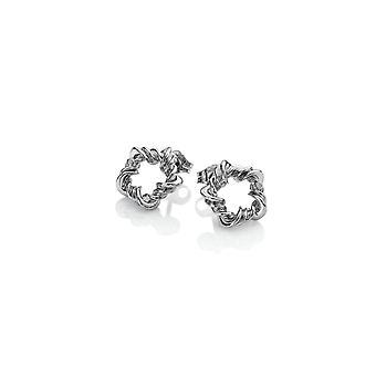 Hete diamanten Sterling zilveren Vine oorbellen DE619