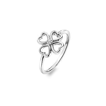 Hot Diamonds Sterling Silver Lucky I Love Ring DR215