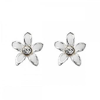 Begyndelser sterling sølv A909 emalje blomst stud øreringe