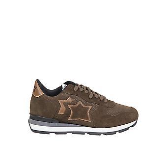 Atlantic Stars Antarmmmbt81 Männer's braun Leder Sneakers