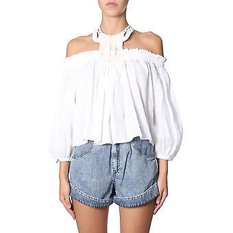 Isabel Marant Ht135219e016i20wh Women's White Linen Top