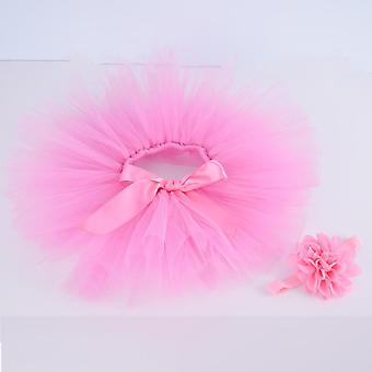 Newborn Baby Tutu Skirt & Headband Set- Newborn Photography Props, Infant