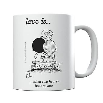 Love Is When Two Hearts Beat As One Mug