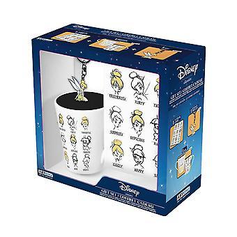Tinker Bell Mug Keyring ja Notebook Moods uusi virallinen lahjasetti