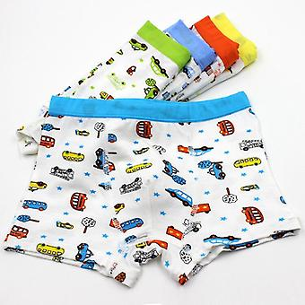 5pcs Soft Underwear, Printed Cotton Boxers