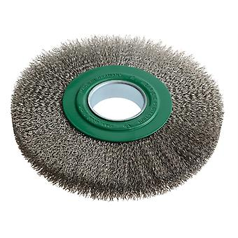 Lessmann Wheel Brush D200mmxW24-27x50 Bore Stainless Steel Wire 0.30 LES365362