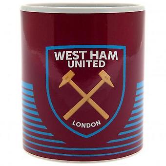West Ham United FC Crest Novelty Mug