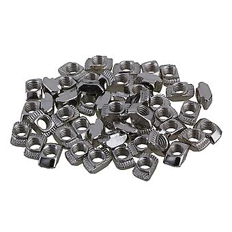 50PCS 20 Series European T-slot Aluminum Carbon Steel Drop In T-Nut M5 Thread