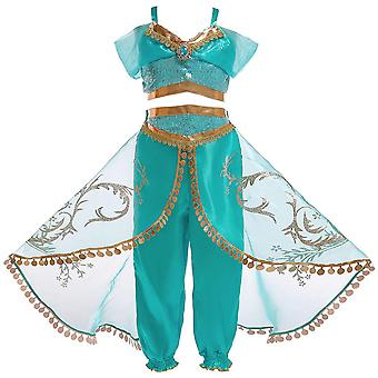 Girls Aladdin Princess Jasmine Fancy Dress Costume Cosplay (Kids)