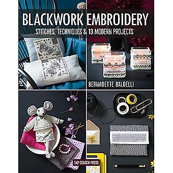 Blackwork Borduurwerk: steken, technieken en 13 moderne projecten