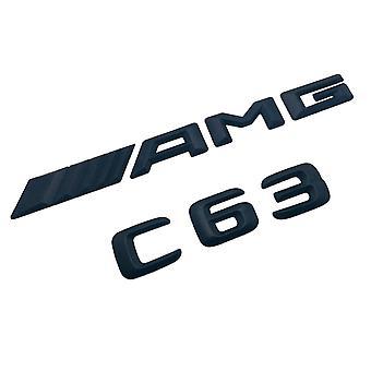 Matt Black New 3D C63 AMG Mercedes Benz Boot Trunk Emblem Badge Stick On For C63 AMG